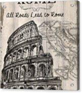 Vintage Travel Poster Acrylic Print