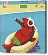 Vintage Travel Poster Italy Acrylic Print