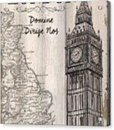 Vintage Travel Poster London Acrylic Print