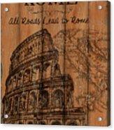 Vintage Travel Rome Acrylic Print