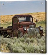 Vintage Truck In Field Acrylic Print