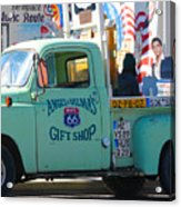Vintage Truck with Elvis on Historic Route 66 Acrylic Print