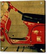 Vintage Vespa Scooter Red Acrylic Print