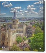 Vintage View Of The Cathedral Acrylic Print