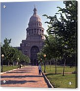 Vintage View Of The Texas State Capitol In Downtown Austin, Texas Acrylic Print