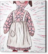 Vintage Volland Raggedy Ann Cloth Doll Acrylic Print