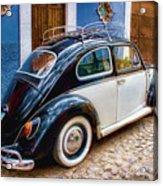 Vintage Vw Bug In Mexico Acrylic Print