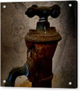 Vintage Water Faucet Acrylic Print by Heinz G Mielke