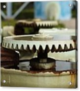 Vintage Water Pump With Gears Acrylic Print