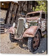 Vintage Water Truck In The Desert Acrylic Print