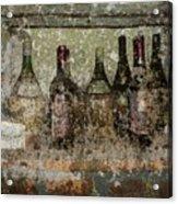 Vintage Wine Bottles - Tuscany  Acrylic Print by Jen White
