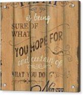 Vintage Wtlb Faith Acrylic Print