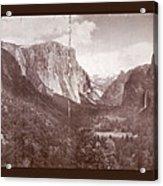 Vintage Yosemite Valley 1899 Acrylic Print