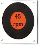 Vinyl record vintage 45 rpm single Acrylic Print