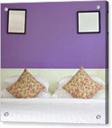 Violet Bedroom Acrylic Print