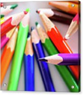 Violet. Colored Pencils Acrylic Print