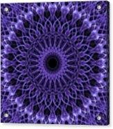Violet Digital Mandala Acrylic Print