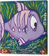 Violet Fish Acrylic Print