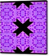 Violet Haze Abstract Acrylic Print