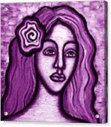 Violet Lady Acrylic Print by Brenda Higginson