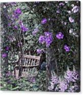 Violet Muted Garden Respite Acrylic Print
