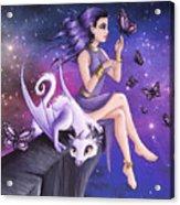 Violet Night Fantasy Acrylic Print