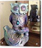 Violet Owl Acrylic Print