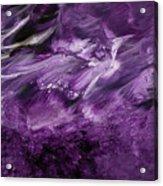 Violet Rhapsody- Art By Linda Woods Acrylic Print