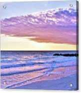 Violet Skies At Nighfall Acrylic Print