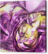 Violet Summer Abstract Acrylic Print