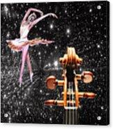 Violin And Ballet Dancer Number 1 Acrylic Print