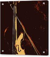 Violin And Bow  Acrylic Print