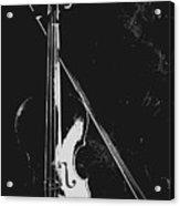 Violin Bow Black And White Acrylic Print