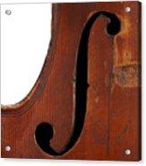Violin Clef Acrylic Print