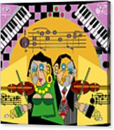 Violin Duets Acrylic Print