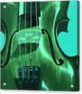 Violin In Green Acrylic Print