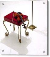 Violin In Silhouette Acrylic Print