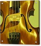 Violin In Yellow Acrylic Print