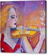 Violin Player Acrylic Print