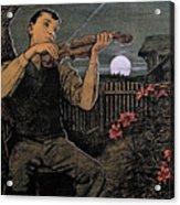 Violin Player To The Moon Acrylic Print