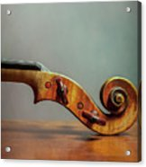 Violin Scroll Acrylic Print