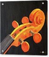 Violin Scroll Acrylic Print