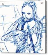Violinist In Blue II Acrylic Print