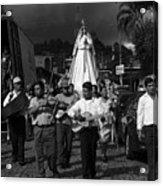 Virgen Concepcion De Ataco Bnw 2 Acrylic Print