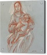 Virgin And Mary Acrylic Print