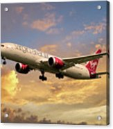 Virgin Atlantic Boeing 787 Dreamliner Acrylic Print