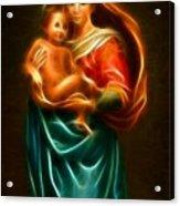 Virgin Mary And Baby Jesus Acrylic Print