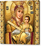 Virgin Mary Of Bethlehem Icon Acrylic Print by Stoyanka Ivanova