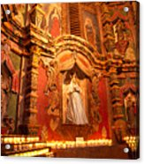 Virgin Mary Statue Candles Mission San Xavier Del Bac Acrylic Print