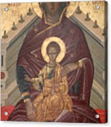 Virgin Mary With Baby Jesus  Acrylic Print